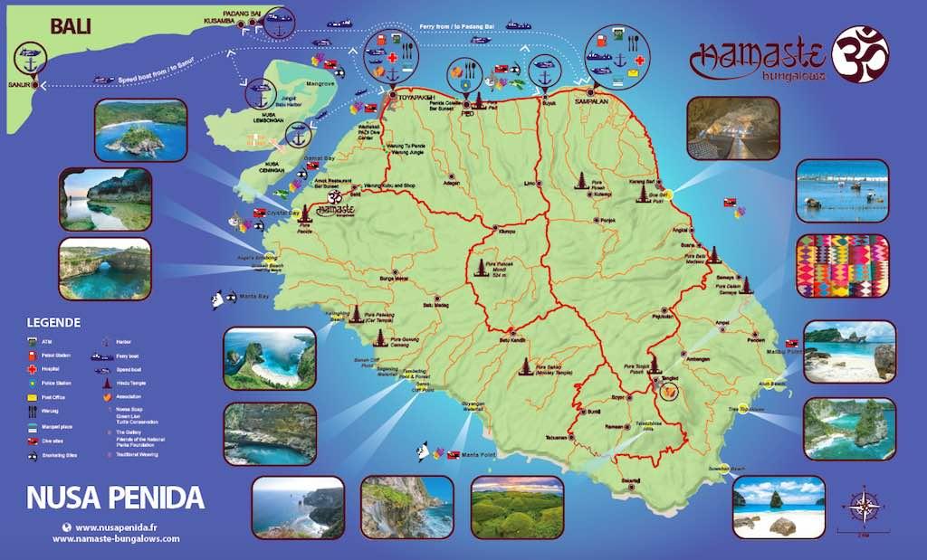Carte Nusa Penida Bali
