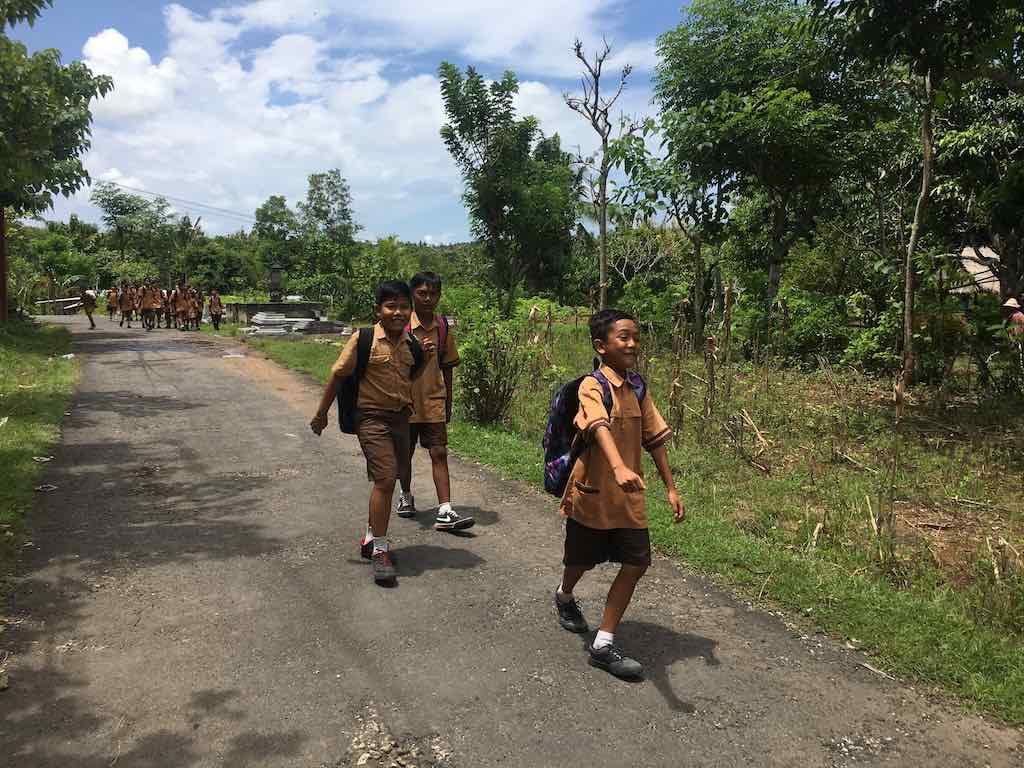 Circuler à pied à Nusa Penida Bali
