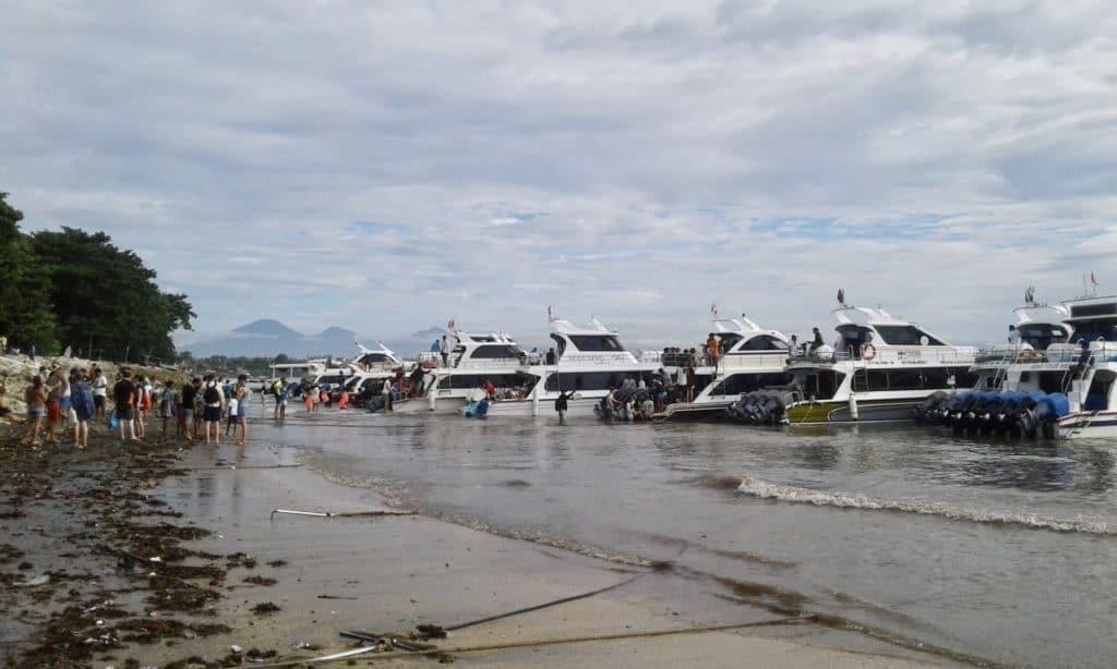 Le port de Sanur à Bali