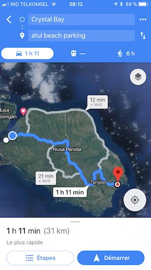 Aller a Atuh Beach Nusa Penida Nusapenida
