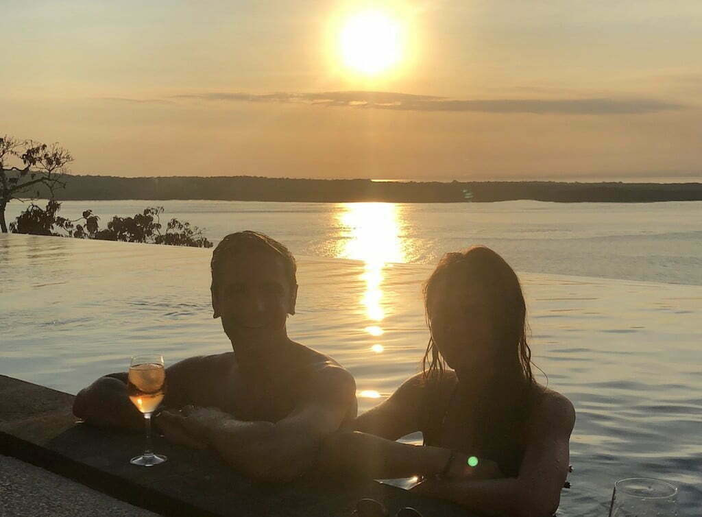 Warnakali coucher de soleil centre de plongée Nusa Penida