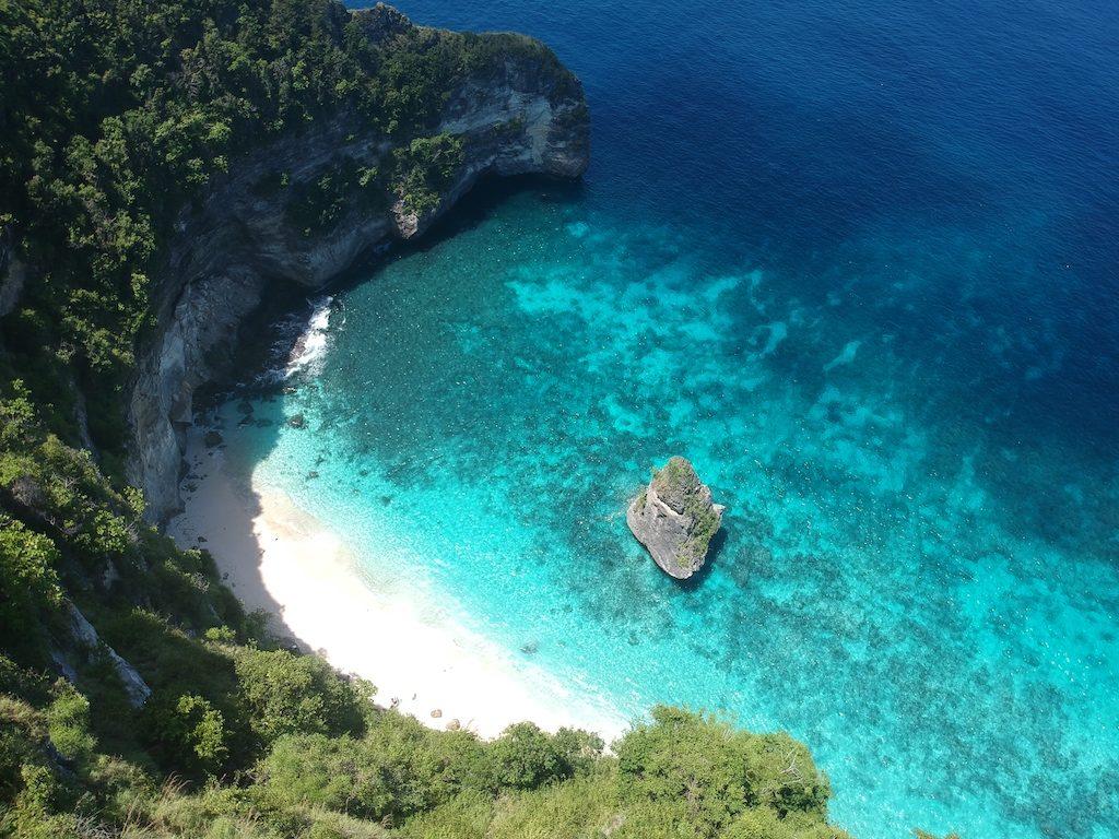 Suwehan Beach Drone view Nusa Penida Nusapenida
