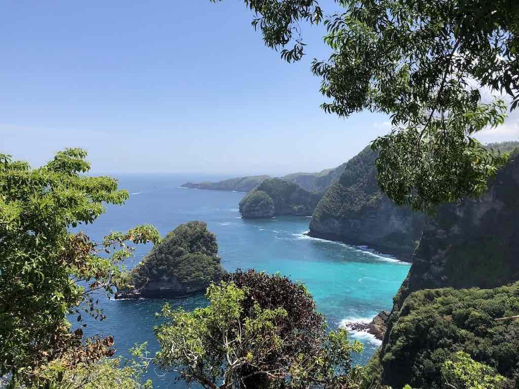 Vue depuis Seganing Waterfall Nusa Penida Bali