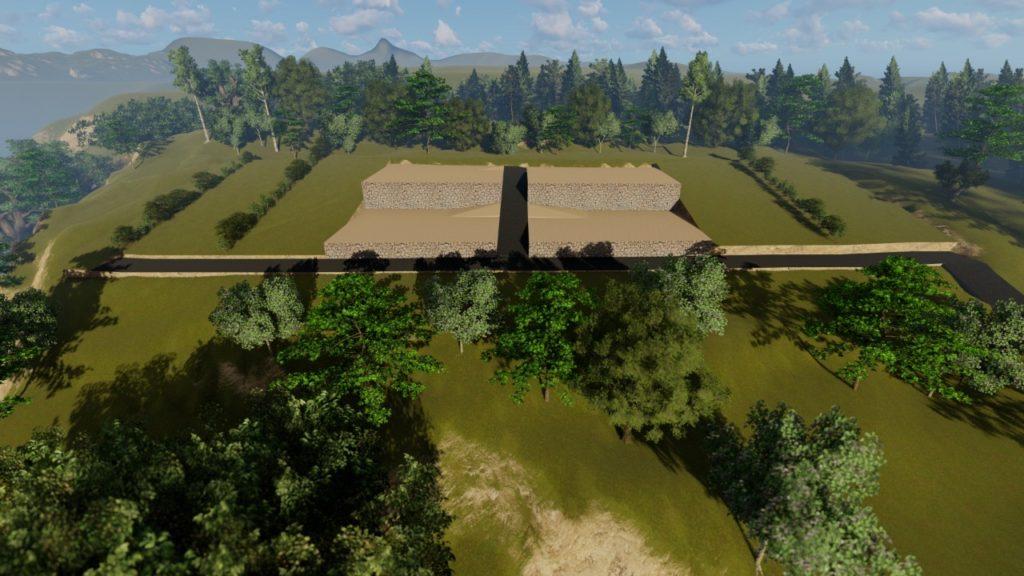 Terrain a vendre a Suana Nusa Penida Bali decoupage en lots vue 3D