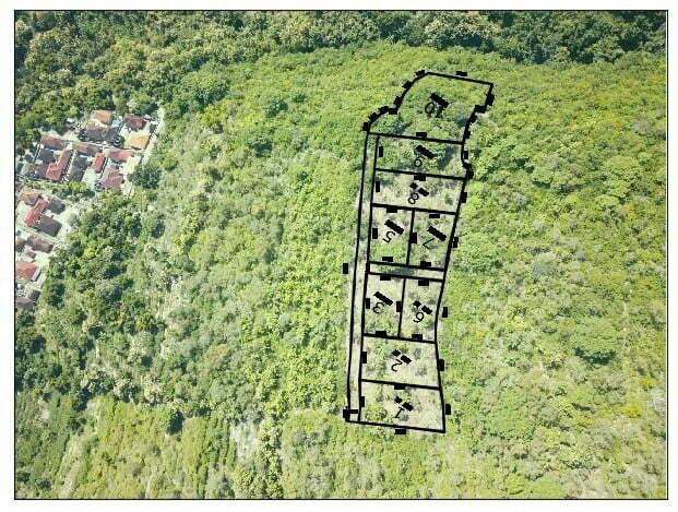 Terrain a vendre a Suana Nusa Penida Bali decoupage en lots